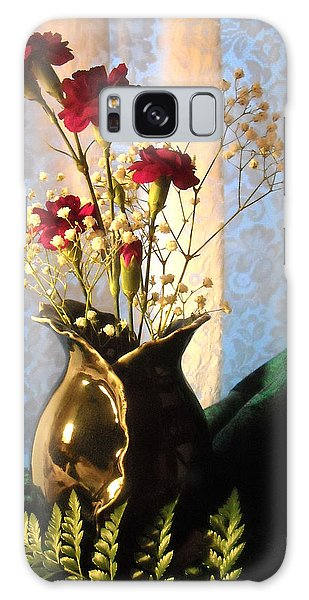 Porcelain Petal Vase 1 With Carnations Galaxy Case