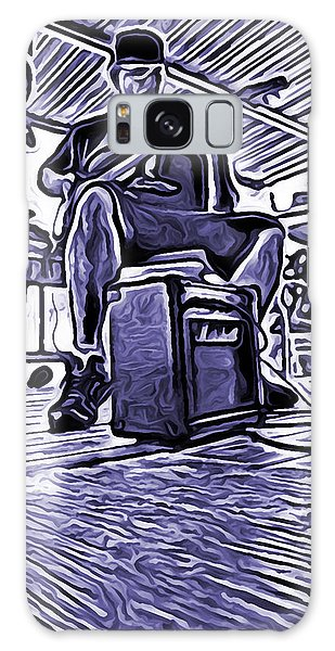Porch Pickin Galaxy Case by Bartz Johnson