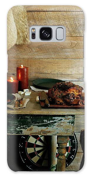 Pork With Candles Galaxy Case