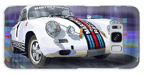 Mixed-media Galaxy Case - Porsche 356 Martini Racing by Yuriy Shevchuk