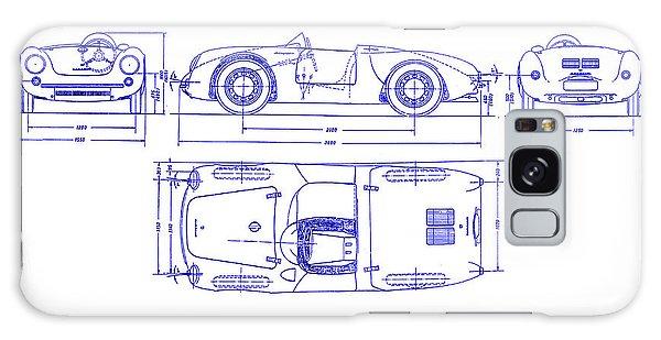 Blueprint Galaxy Case - Porsche 550 Spyder Blueprint  by Jon Neidert