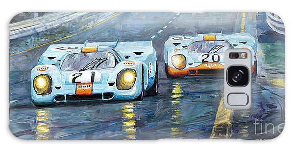 Car Galaxy S8 Case - Porsche 917 K Gulf Spa Francorchamps 1971 by Yuriy Shevchuk
