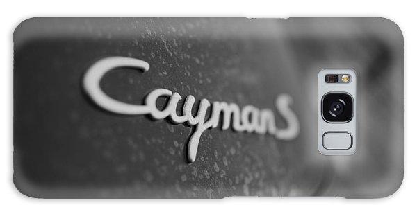 Standing Porsche Cayman S Galaxy Case by Miguel Winterpacht