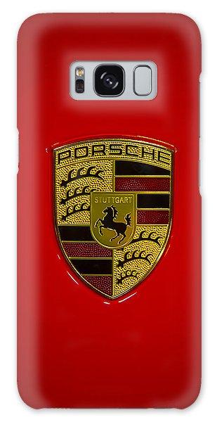 Porsche Emblem Red Hood Galaxy Case