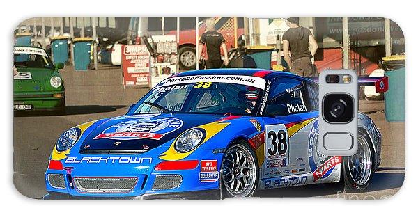 Porsche In The Pits Galaxy Case