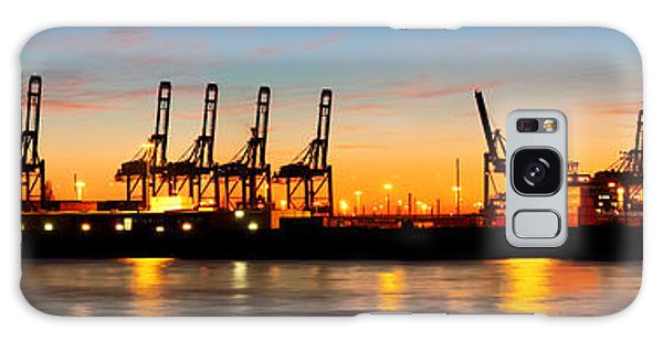 Port Of Hamburg Panorama Galaxy Case
