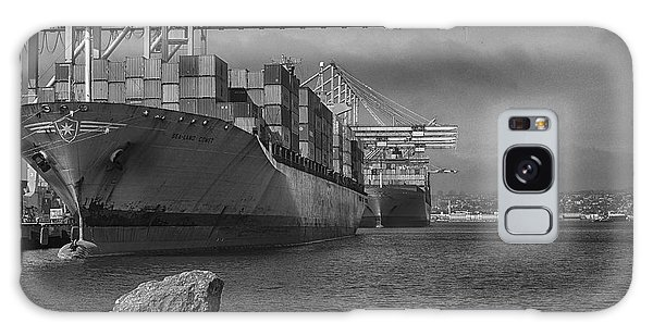 Port Of Long Beach Galaxy Case by Joseph Hollingsworth