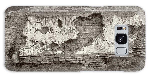 Porta Romana In Sepia Galaxy Case