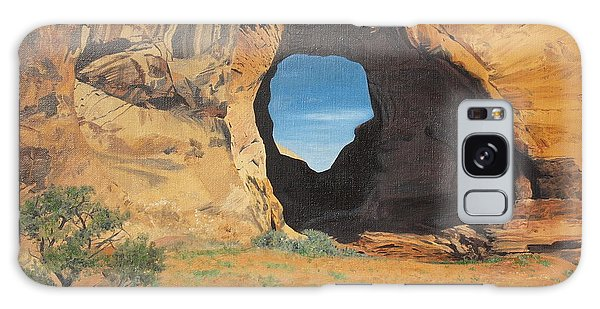 Portal At Window Rock  Galaxy Case by Barbara Barber