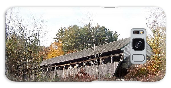 Porter Covered Bridge Galaxy Case by Catherine Gagne