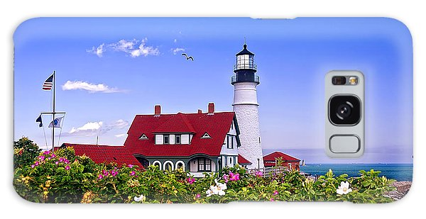 Portland Head Light And Roses Galaxy Case