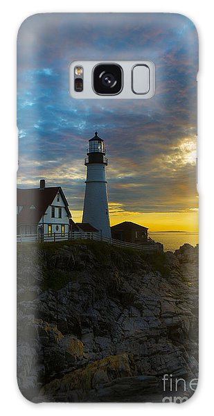 Portland Head Light At Dawn Galaxy Case