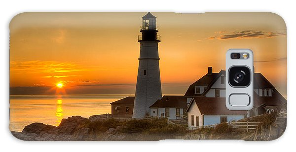 Portland Head Light At Sunrise II Galaxy Case by Clarence Holmes