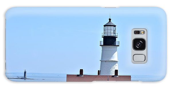 Portland Head Light Galaxy Case by Tara Potts