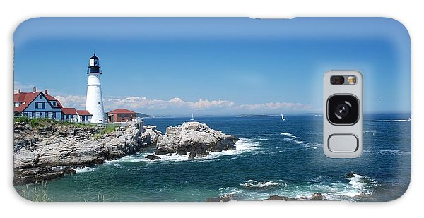 Portland Head Lighthouse Galaxy Case by Allen Beatty