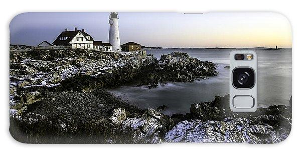 Portland Head Lighthouse At Dawn Galaxy Case by Betty Denise
