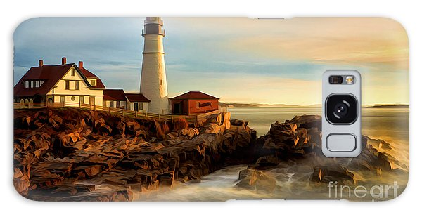 Portland Head Lighthouse At Dawn Galaxy Case
