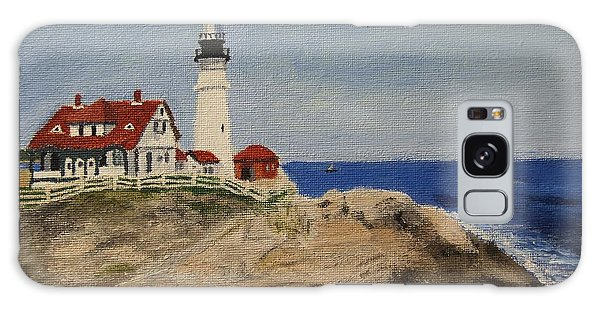 Portland Head Lighthouse In Maine Galaxy Case