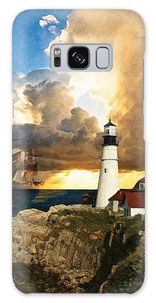 Portland Head Lighthouse Galaxy Case