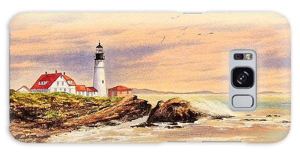 Portland Head Lighthouse Maine Galaxy Case by Bill Holkham