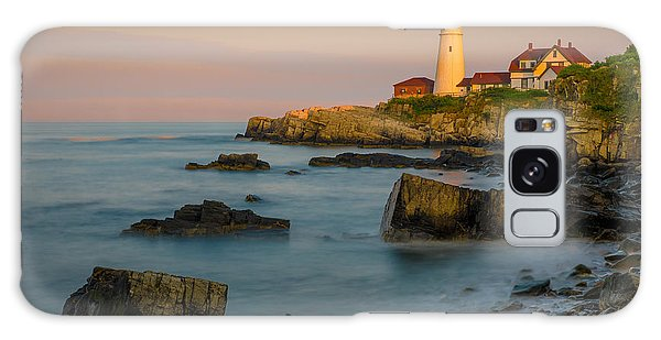 Portland Head Lighthouse Galaxy Case by Steve Zimic