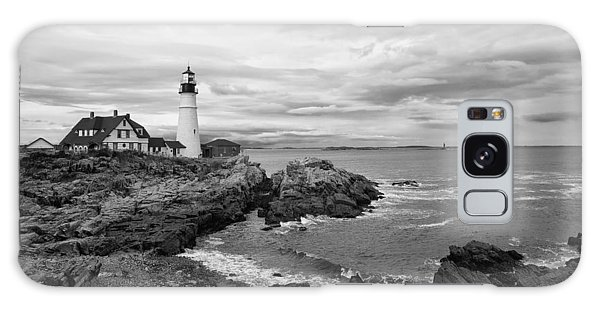 Portland Lighthouse Black And White Galaxy Case