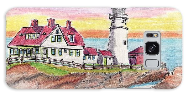 Portland Me Lighthouse Galaxy Case