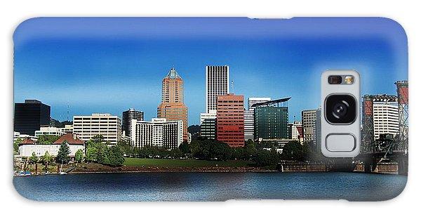 Portland Oregon Galaxy Case by Aaron Berg