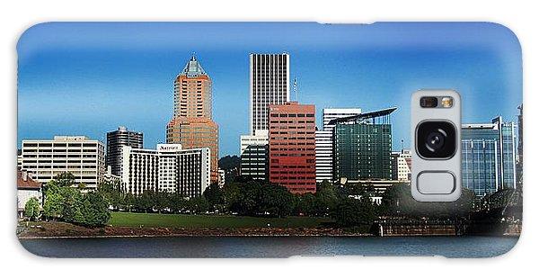 Portland Oregon Skyline  Galaxy Case by Aaron Berg