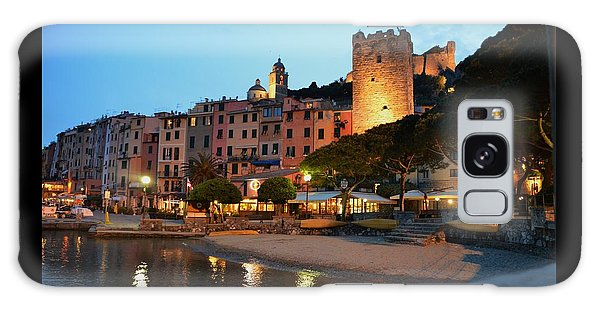 Portovenere At Night Galaxy Case