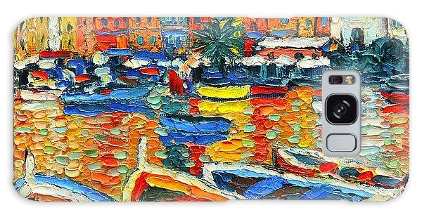 Portovenere Harbor - Italy - Ligurian Riviera - Colorful Boats And Reflections Galaxy Case