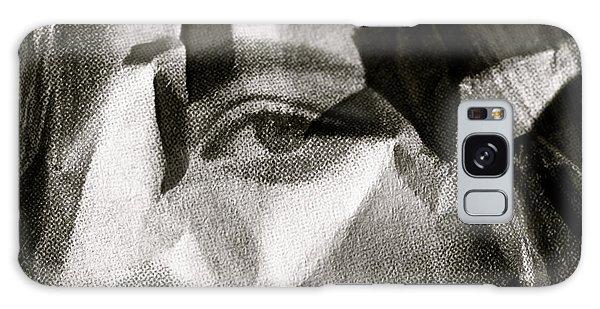 Portrait In Black And White Galaxy Case
