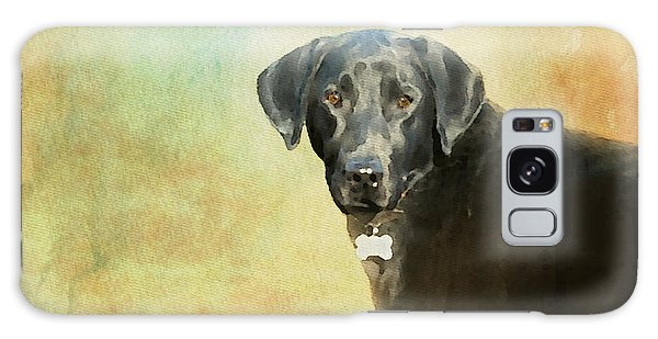 Portrait Of A Black Labrador Retriever Galaxy Case