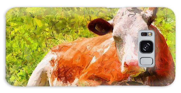 Portrait Of A Cow 2 Galaxy Case by Kai Saarto