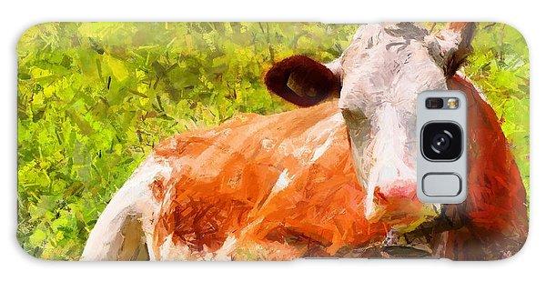 Portrait Of A Cow 2 Galaxy Case by Kai Saarto