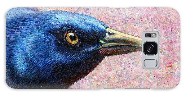 Crow Galaxy S8 Case - Portrait Of A Grackle by James W Johnson