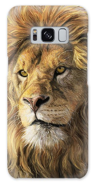 Lion Galaxy Case - Portrait Of A Lion by Lucie Bilodeau