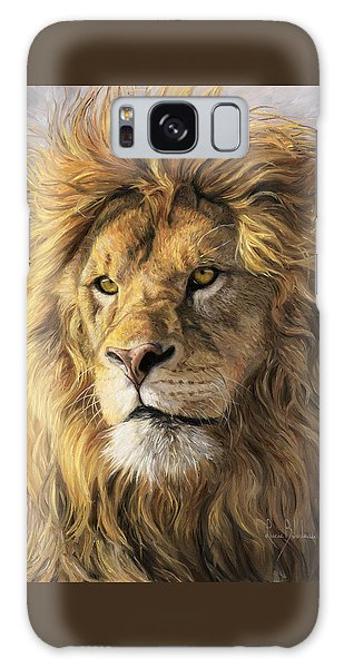 Wildlife Galaxy Case - Portrait Of A Lion by Lucie Bilodeau
