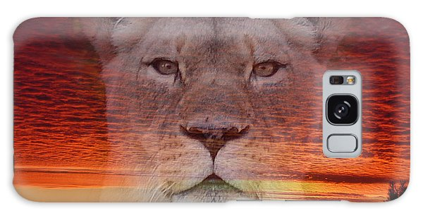 Portrait Of A Lioness At The End Of A Day Galaxy Case by Jim Fitzpatrick