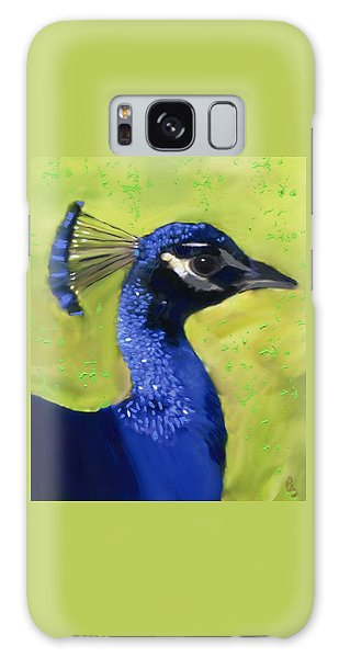 Galaxy Case featuring the painting Portrait Of A Peacock by Deborah Boyd
