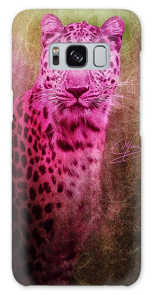 Portrait Of A Pink Leopard Galaxy Case