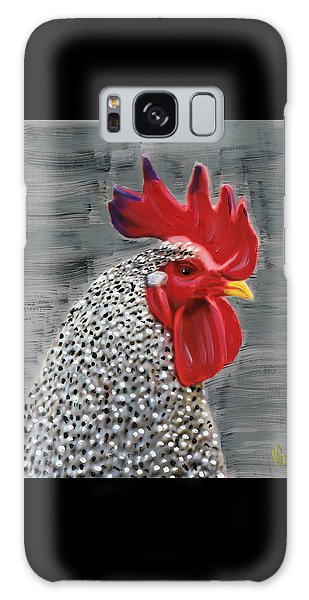 Galaxy Case featuring the painting Portrait Of A Rooster by Deborah Boyd