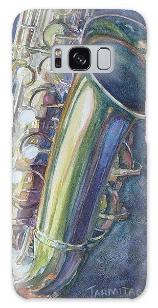 Portrait Of A Sax Galaxy Case by Jenny Armitage