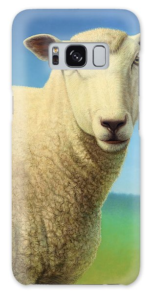 Sheep Galaxy Case - Portrait Of A Sheep by James W Johnson