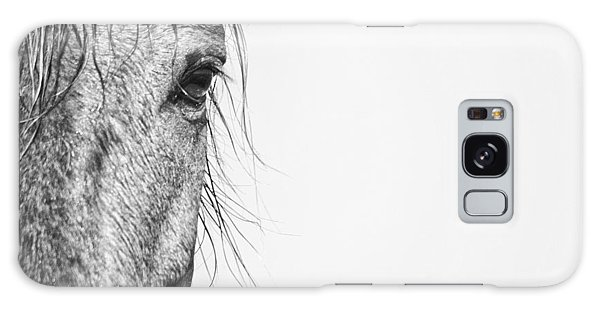 Portrait Of A Wild Mustang Galaxy Case