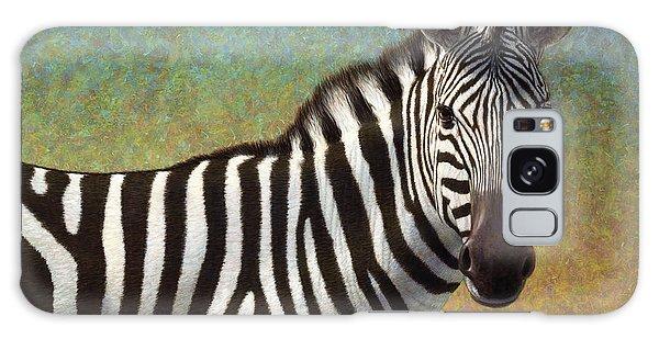 Equine Galaxy Case - Portrait Of A Zebra by James W Johnson