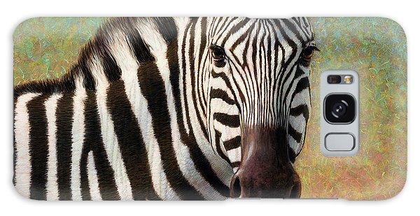 Equine Galaxy Case - Portrait Of A Zebra - Square by James W Johnson