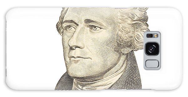 Portrait Of Alexander Hamilton On White Background Galaxy Case by Keith Webber Jr