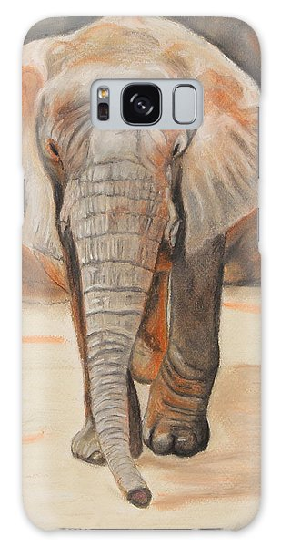 Portrait Of An Elephant Galaxy Case by Jeanne Fischer