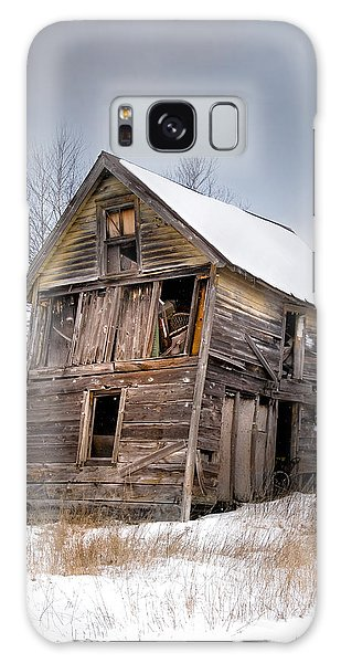 Portrait Of An Old Shack - Agriculural Buildings And Barns Galaxy Case